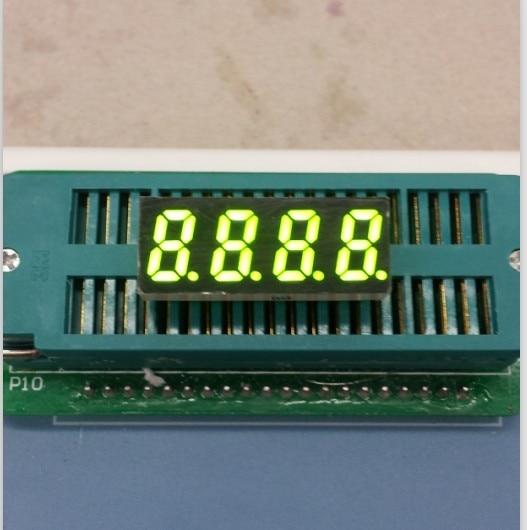 Common Anode/ Common Cathode 0.31 Inch Digital Tube 4 Bits Digital Tube Led Display 0.31inches Yellow-green Digital Tube