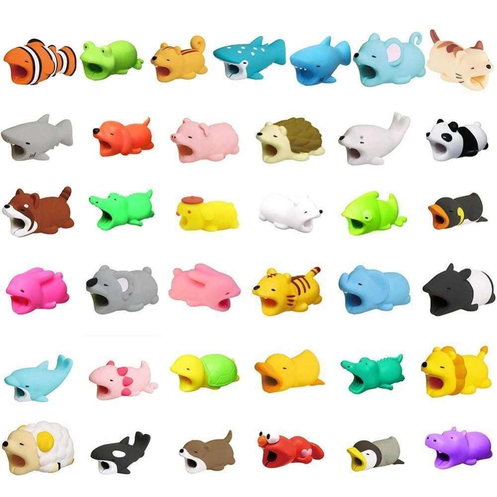 Телефонный кабель мультфильм животных зарядка органайзер для USB провода протектор шнур чехол для iPhone 5SE 5s 6S 6 7 8 huawei P20 P30 Lite Pro