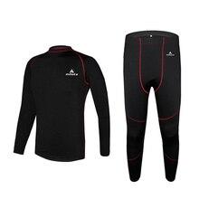 Мужское уличное спортивное термобелье, комплект зимнего флисового теплого нижнего белья, верхняя одежда, штаны для велоспорта, базовые слои для катания на лыжах/пеших прогулок