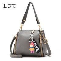 LJT 2017  New Woman Bag Luxury Handbags Small Portable Shoulder Messenger Bag Simple Fashion Personalitized Crossbody Bag bolsa