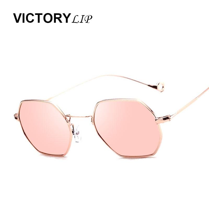 VictoryLip Hexagon Solbriller Dame Mirror Rose Gold 2017 Motemerker - Klær tilbehør - Bilde 2