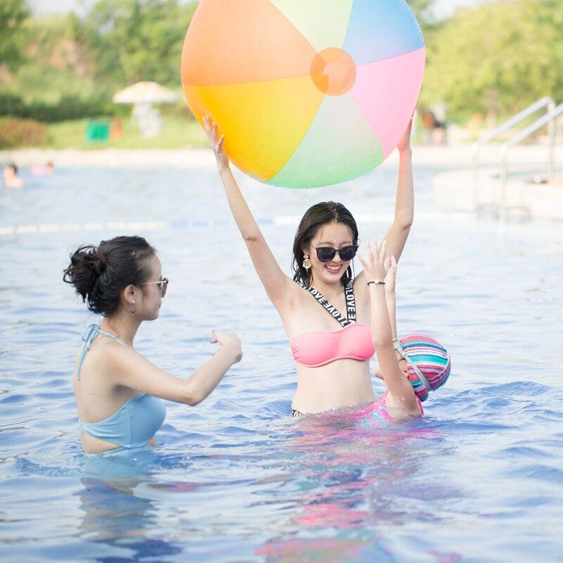 슈퍼 큰 80cm PVC 풍선 볼 아이 아이 에어 비치 볼 - 수상 스포츠 - 사진 4