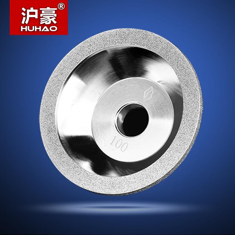 цены  100mm Dia 20mm Bore 35mm Height Grind CNC Router Tool Diamond Wheel Cutter Carbide Metal Diamond Grinding Wheel Router Bit #100