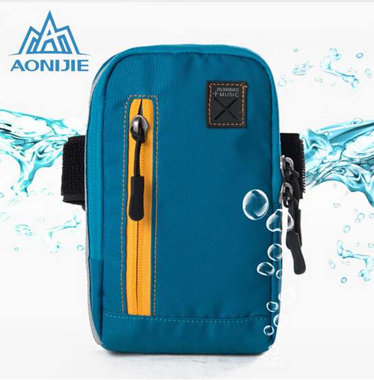 AONIJIE Arm Bags For Outdoor Running Coins Purse Sports Phone Mobile Wallet Key Package With Arm