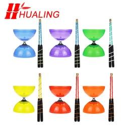 Набор мягких игрушек diabolo с фиксированным или подшипниковым подшипником, профессиональный набор Diabolo, упаковка с сумкой для лески, Китай