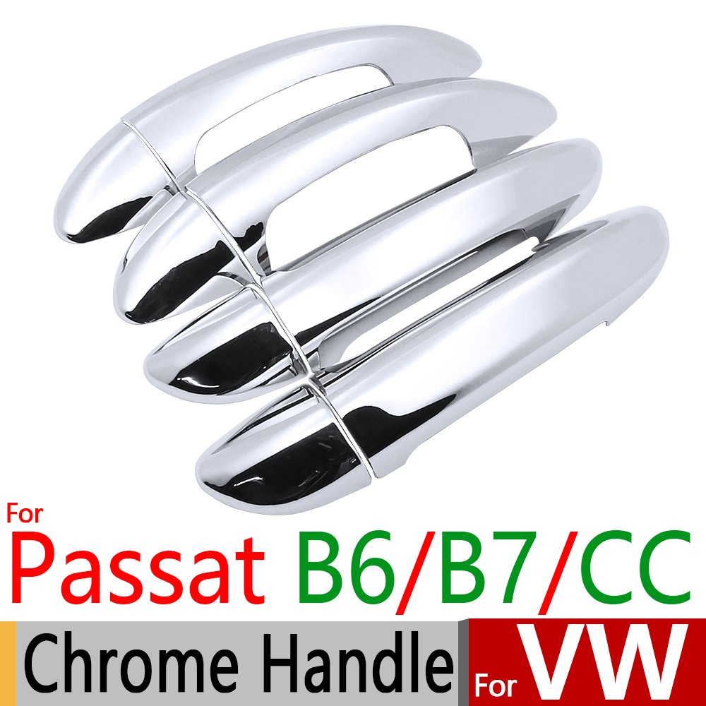 for VW Passat B6 B7 CC Chrome Door Handle Covers Trim Set of 4 Door for Volkswagen 2005- ...