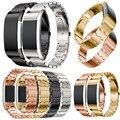 Pulsera de acero inoxidable genuino smart watch band correa para fitbit cargo 2 nov25