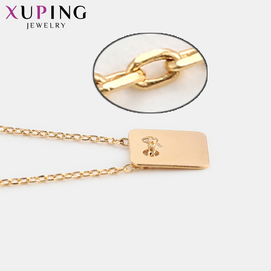 11.11 Deals Xuping Fashion Square Pendant Necklace Party Temperament Jewelry for Women Party New Years Day Gifts S116-44936