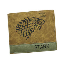 men wallets with coin pocket embossed leather game of thrones / one piece pattern carteira masculina