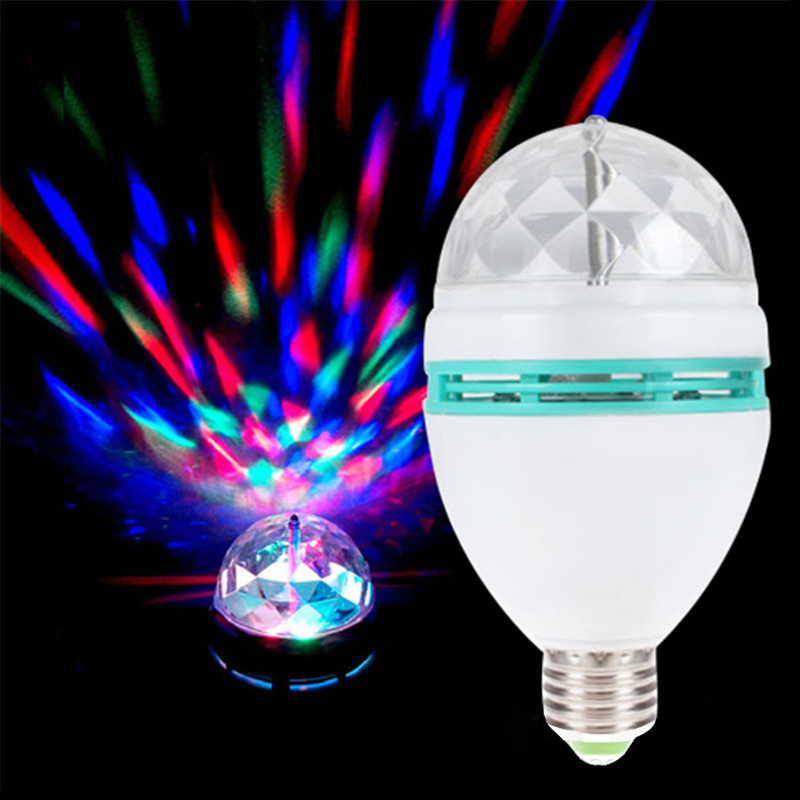 3W LED Bulb lamp E27 Base Crystal stage Light Magic Ball Shape 85-265V LED flower Bulb for Party show Disco Bar home