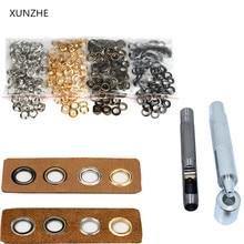 XUNZHE материалы для рукоделия 3,5 мм 50 шт.+ инструмент для глаз Люверсы с заклепками, но с петлями, разноцветные пряжки, шнурки с металлическим отверстием