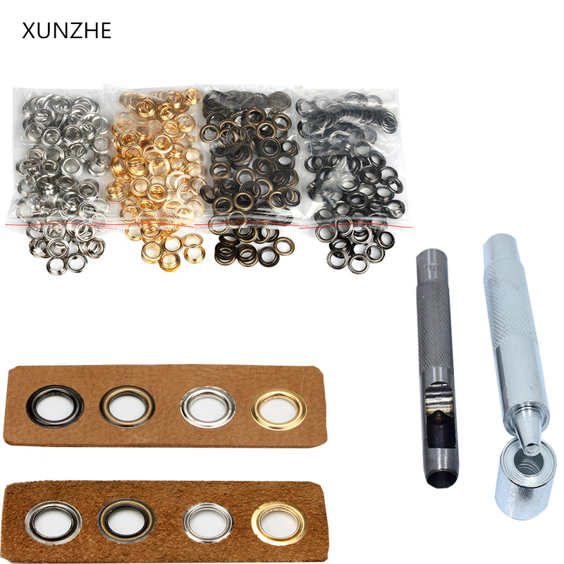 50 Sets 3.5mm-20mm Metal Eyelets With Grommet For Leather Craft Diy Accessories