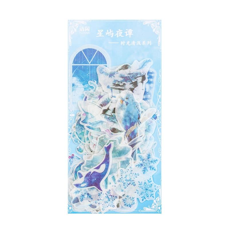Купить с кэшбэком 1 pack Washi Paper Sticker Bag Time-light Series Creative Freshness Diary DIY Decorative Stickers Scrapbook
