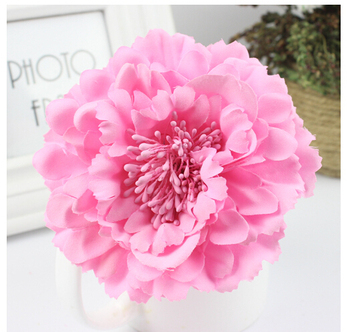 Hot Selling Fabric Blooming peony Flower Corsage Brooch woman Hair Decorations & wedding party Clip Bridal Wedding