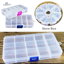 1pc 100% Nieuwe PP Hars Clear Storage Box voor Fake Nose Ring Helix Piercing Tong Ringen Dozen 8/ 10/15 rooster Sieraden Container(China)