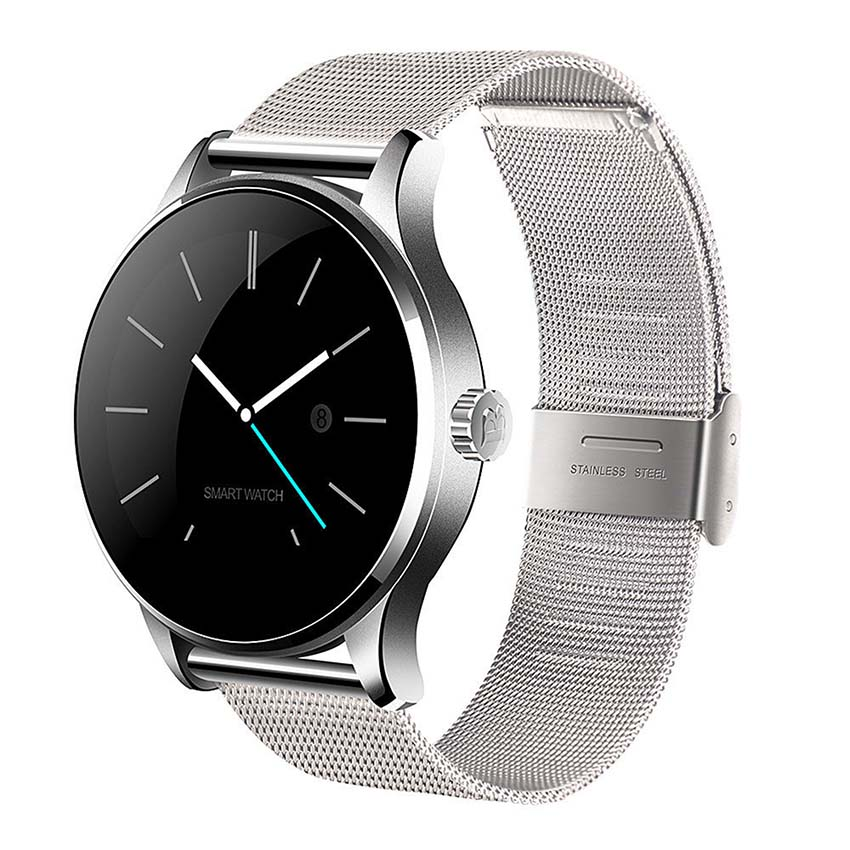 K88H Smart Uhr 1,22 Zoll Runden Bildschirm Unterstützung Pulsmesser Bluetooth SmartWatch Für Apple Huawei IOS Android pk KW88