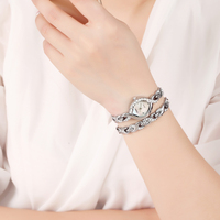 Time100 Elegance Women Bracelet Watches Quartz Watch Waterproof Jewelry Silver Alloy Shell Small Dial Female Wrist Watches Gift