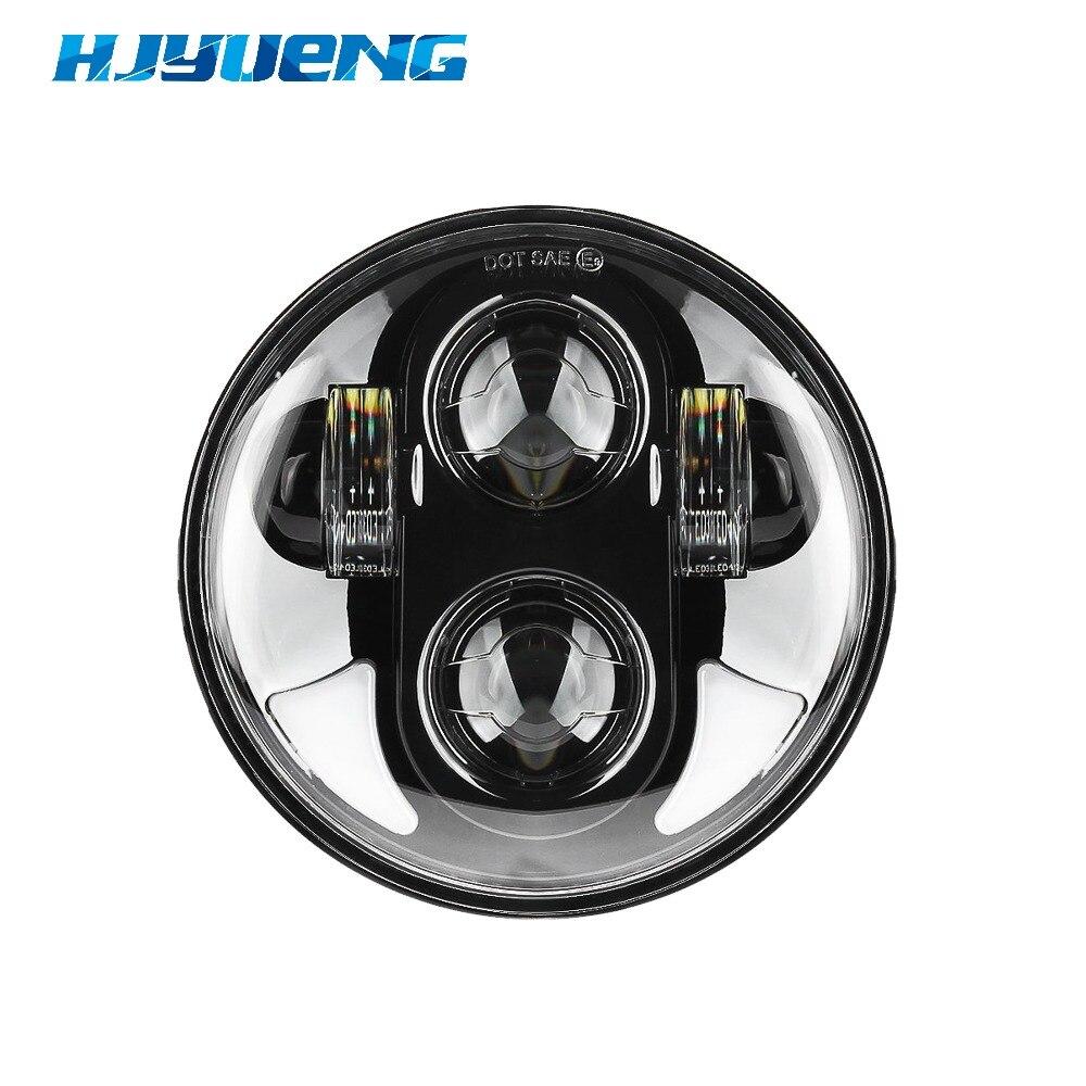 HJYUENG 45W 5-3/4 5.75 Inch Daymaker Projector LED Headlight Hi/Lo Beam Black LED light for Harley Davidson Motorcycle