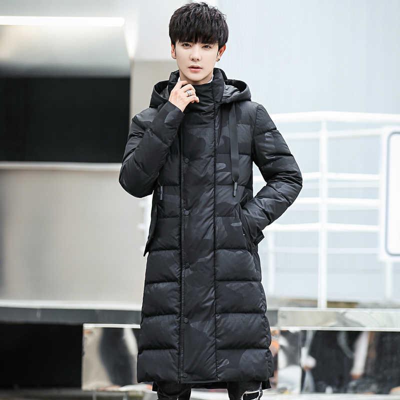 -Chaqueta de invierno de Rusia de 30 grados para hombres extra grueso rompevientos abrigo largo de camuflaje para hombres pato blanco chaqueta de nieve