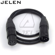 XLR 4pin Male to Female Angle 4-Pin XLR Cable for Power Supply Battery Adapter