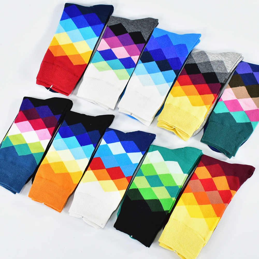 Calcetines Hombre стандартные хлопковые повседневные высококачественные мужские носки, цветные носки (5 пар/партия) без коробки