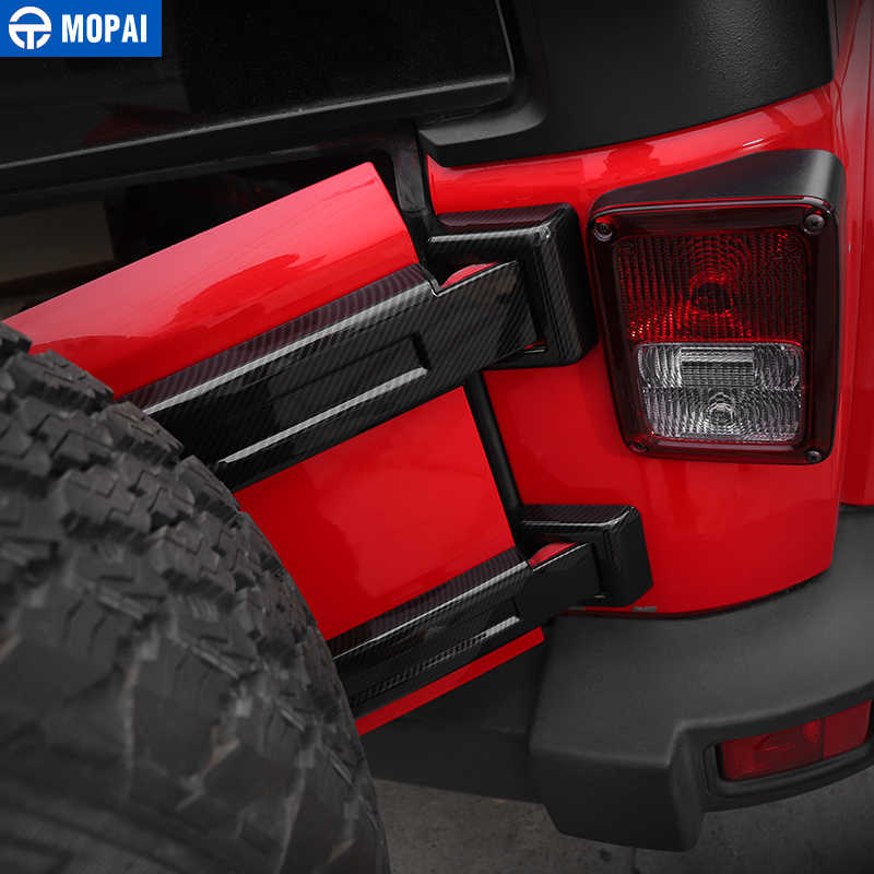 Mopai abs 車外装リアスペアタイヤテールヒンジ装飾ジープラングラー jk 2007 アップのための車スタイリング