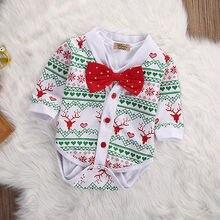 2PCS Set Gentleman Bow Baby Girl Boy XMAS Snowflake Coat + Bodysuit Jumpsuit Outfits Clothes Long Sleeve Next Infant Boy Girl