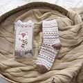 2 Pairs Set Packaging Pink Boho Fox Free Shipping Kpop Women's Winter Socks Sleep Personalized Girls Office/Career Short Socks