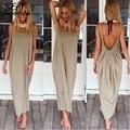 Fanala 2017 mulheres hippie dress sexy backless spaghetti strap dress beachwear longo festa maxi dress mulheres clubwear plus size