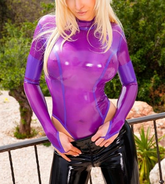0.4mm Thickness Latex Leotard Sexy Latex Bodysuit Latex Girls Catsuit With Gloves Latex Girls Swimming Suit