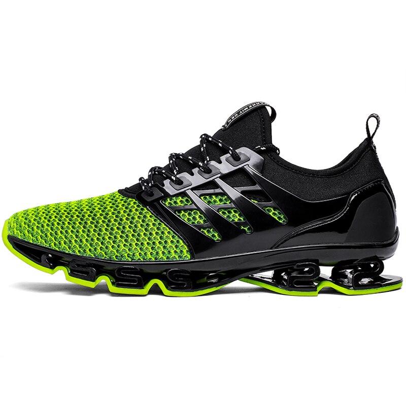 Gran tamaño 36-46 hombres mujeres corriendo zapatos al aire libre respirable Jogging deporte hoja zapatos para hombres es krasovki caminando zapatillas de deporte