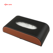 E-FOUR Car Tissue Box Leather Lint Cloth Magnetic Stick Locker Fashion Interior Accessories Boxes Tidying Stowing