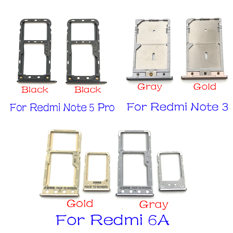 For Xiaomi Redmi A2 Lite 6 Pro S2 6 Pro 5 Plus SIM Card Tray Slot Holder Replacement Parts