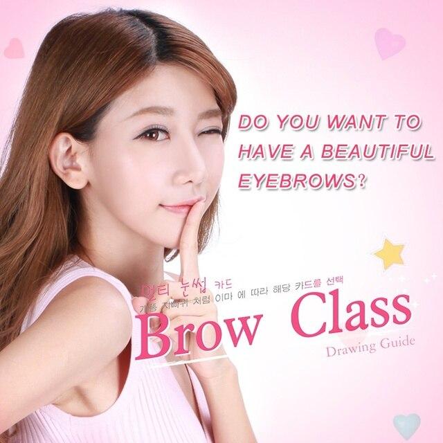 3Pcs/set Eyebrow Template Stencil Tool Makeup Eye Brow Template Shaper Make Up Tool Eye Brow Guide Template DIY Beauty 3