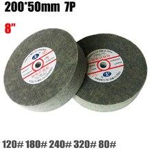 """8 """"zoll nylonfaser edelstahl Metall Polieren Schleifen vlies zeichnung rad 200*50mm 7 P 1 stück preis"""