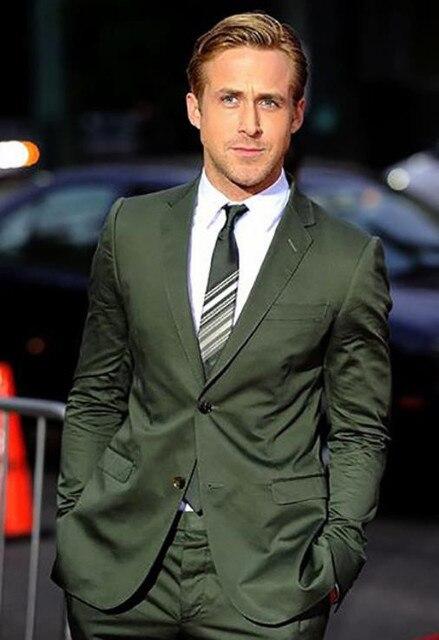 4562949b826 Slim Tailored Army Green Men Suit Dark Olive Green Groom Tuxedo Latest Men  Fashion Slim Fit 2 Pieces(Jacket+Pants)