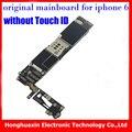 Boa qualidade 16 gb 100% original motherboard para iphone 6 sem touch id desbloqueio de fábrica placa lógica mainboard sem fingprint