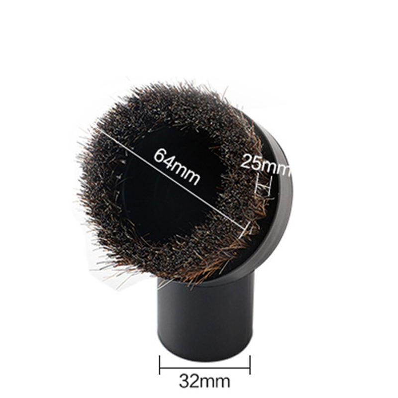 2.5cm Long Horse Round Brush Vacuum Cleaner Part Attachment Tool Cleaning Parts