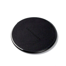 10W Fast Leather QI Wireless Charger for IPhone X XR XS Max 8 Plus Qi Quick Charge Samsung Galaxy Note 9 S8 S9 Charging