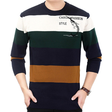 2017 brand social cotton thick men's pullover sweaters casual striped crocheted knitted sweater men masculino jersey clothes 538