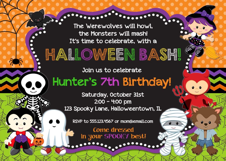 Online Get Cheap Halloween Birthday Invitation Aliexpresscom