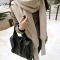 Sunfree 2017 Hot Women Winter Warm Knit Wool Scarf Long Sleeve Wrap Scarves Shawl Brand New High Quality Dec 26