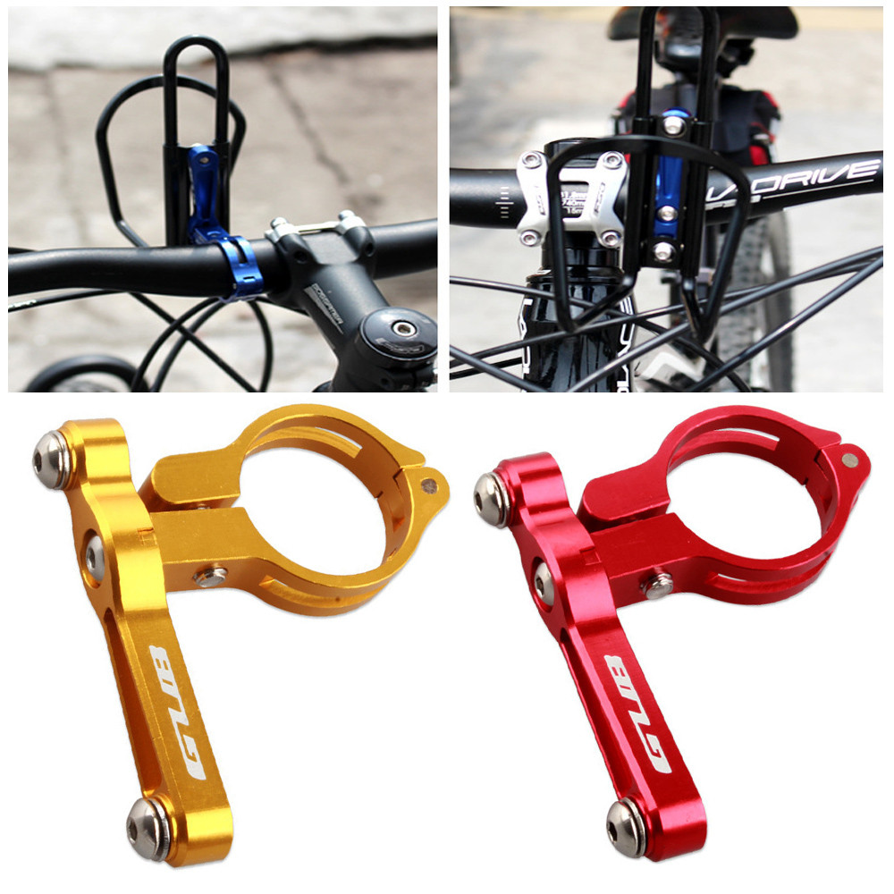 Aluminum Alloy Bicycle Bike Handlebar Mount Water Bottle Cage Cup Clamp Holder