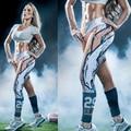 Горячая продажа новые прибытия футбол НФЛ все команды девушка школа женщины Бег Колготки тренировки спортивная Леггинсы Yoga фитнес брюки