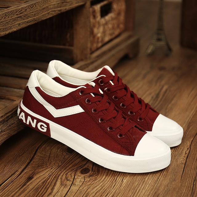 Los hombres Zapatos de Lona Ocasionales Respirables Antideslizantes Moda Clásica Plana Primavera Verano Otoño Estilo Estudiante