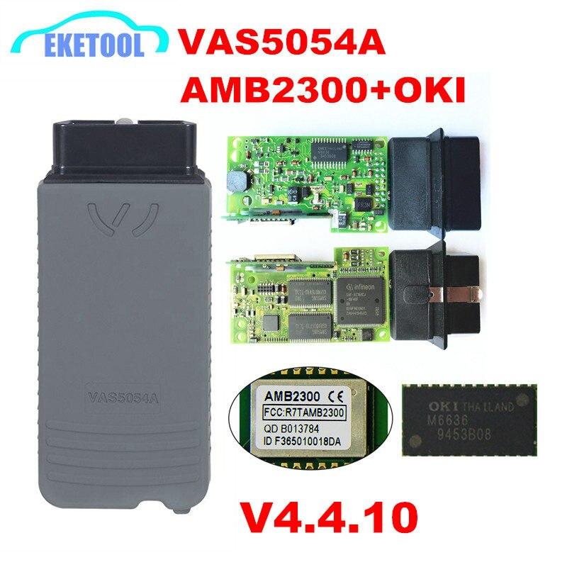 VAS5054 OKI Plein Puce ODIS V4.4.10 Date Version AMB2300 Bluetooth 1:1 Conception PCB Haute Qualité VAS 5054a UDS Multi- langue