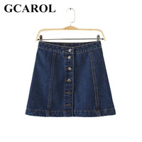 Women Brand A Line Denim Skirts Single Breasted Jeans Skirts High Quality Plus Size Fashion Casual