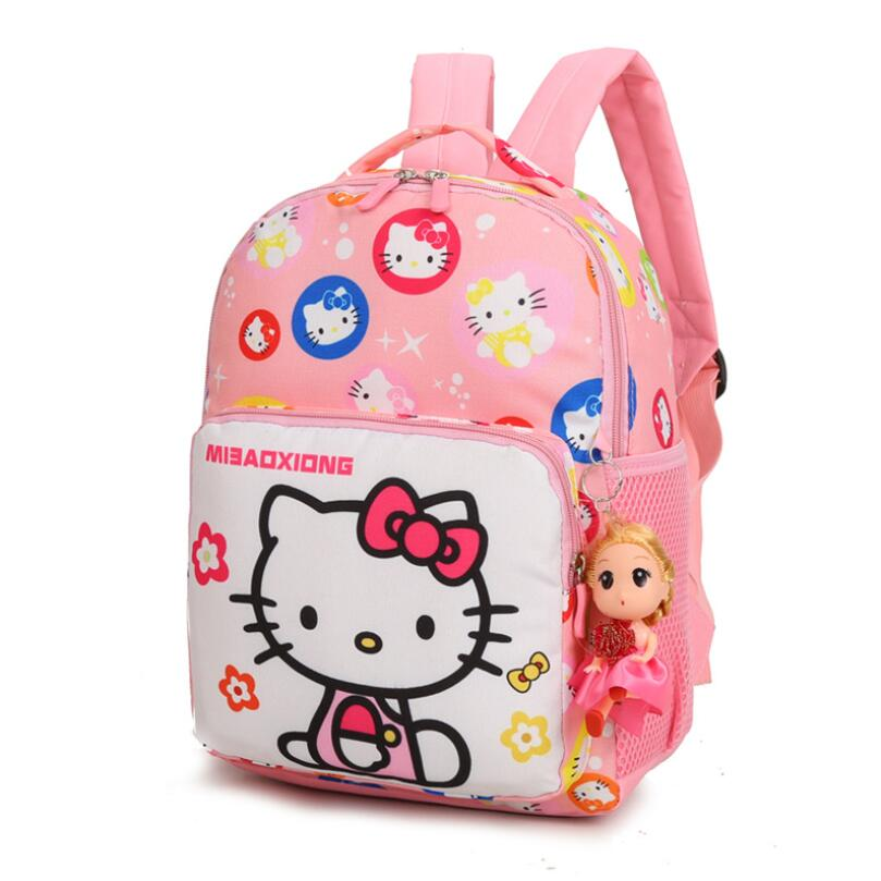 Hot Cartoon Children Bag School Bags Girls Cat Backpack Kids Character Fashion Schoolbag Mochila Escolar Infantil