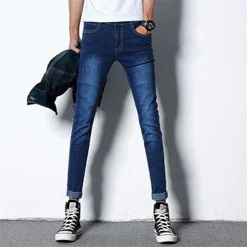 b947f34a9d Izquierda ROM para hombre de la marca 2019 Jeans de moda Casual Hombre  pantalones de mezclilla pantalones de algodón clásico vaqueros rectos de  Quality28-36