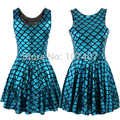 X-382 New Arrival Mermaid Skater Dress Punk  Fashion Pleated Women winter casual Dress Plus Size
